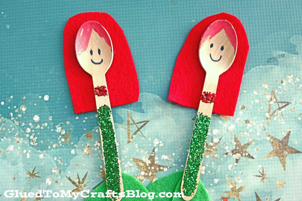 Wooden Spoon Mermaid - Kid Craft Idea For Summer