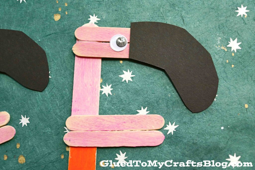 """""""F"""" is for Flamingo - Popsicle Stick Kid Craft"""
