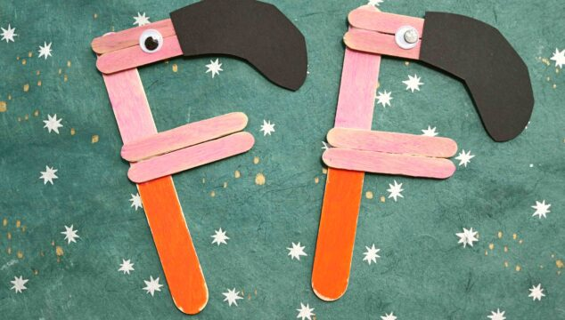 """F"" is for Flamingo - Popsicle Stick Kid Craft"