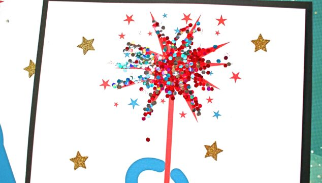 Simple Glitter & Paper Patriotic Firework Sparkler Craft