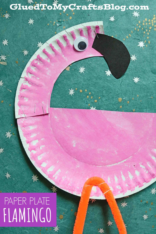 Paper Plate Flamingo - Kid Craft