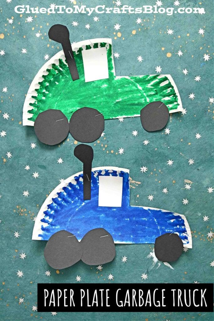 Paper Plate Garbage Truck - Kid Craft