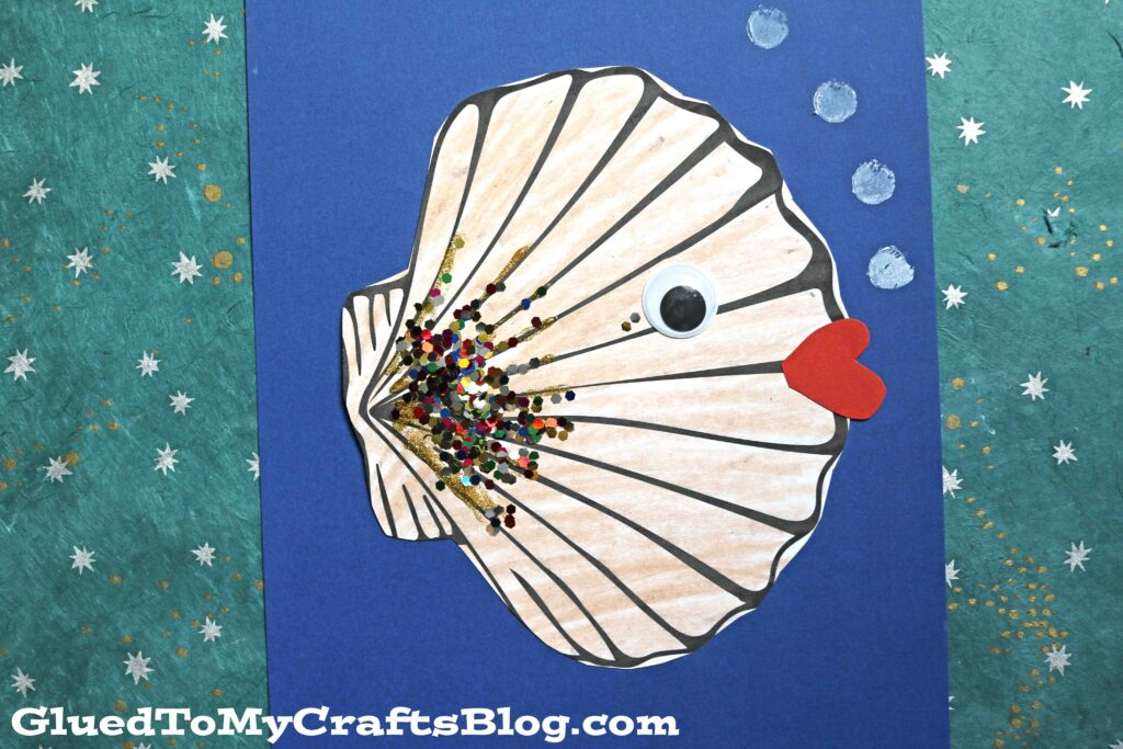 Paper Seashell Fish Art Project For Kids To Tackle This Summer!