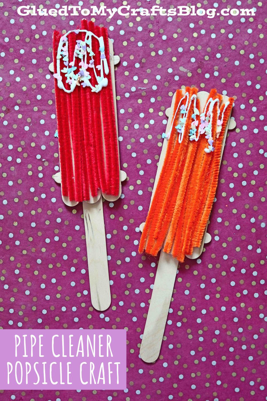 Pipe Cleaner Popsicles - Unique Summer Kid Craft Idea