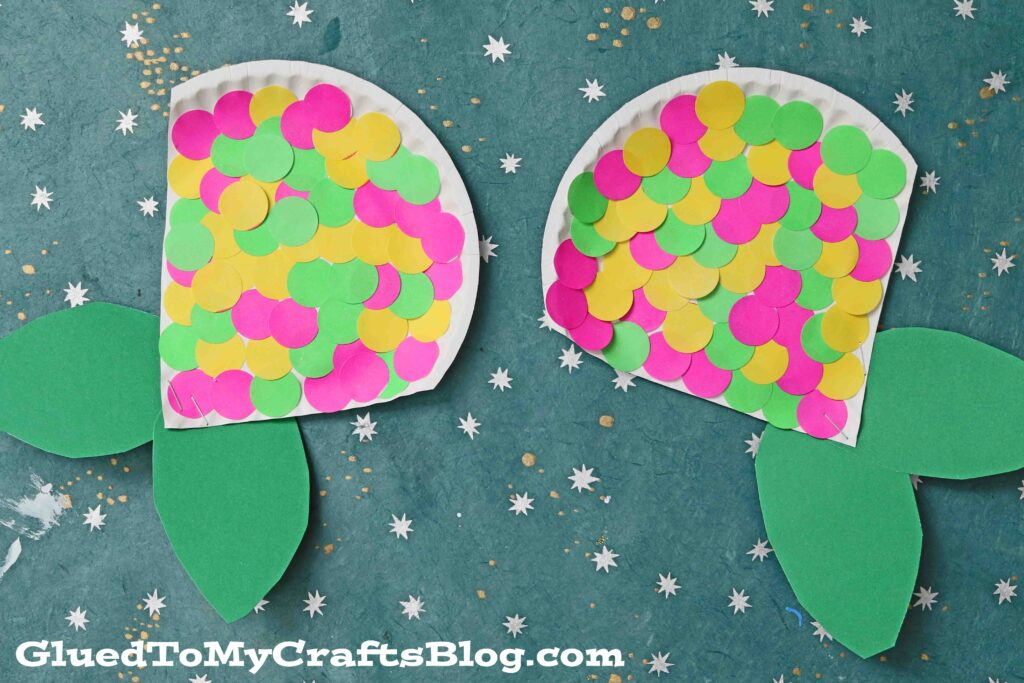 Paper Plate Polka Dot Mermaid Tail - Kid Craft
