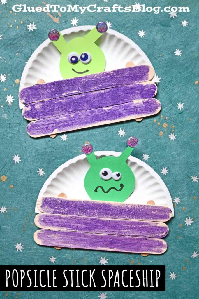 Popsicle Stick Alien Spaceship - Kid Craft