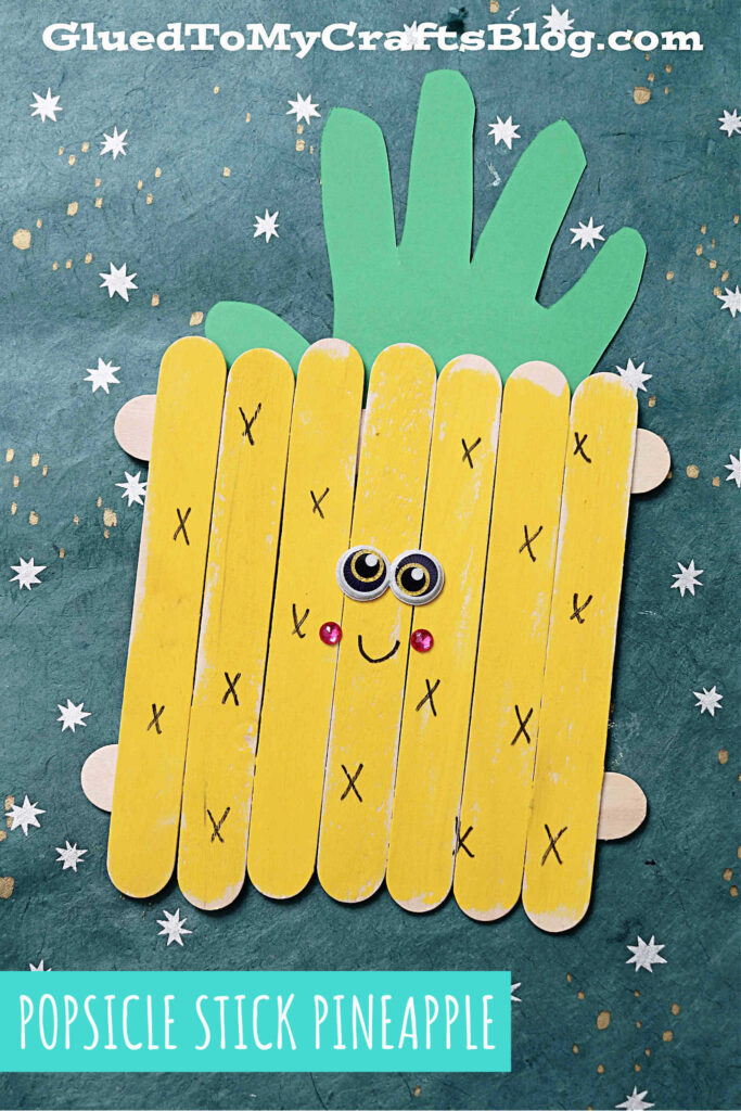 Popsicle Stick Pineapple - Super Sweet Craft Idea For Kids