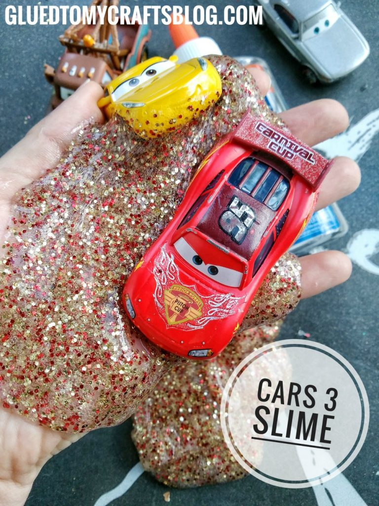 Cars 3 Inspired Slime For Kids - No Borax Recipe