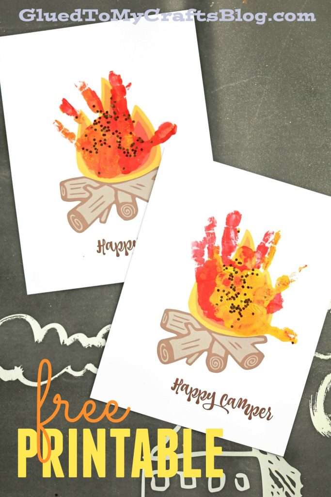 Happy Camper - Handprint Campfire Keepsake