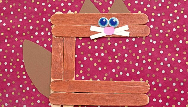 "Popsicle Stick ""C"" is for Cat - Kid Craft Idea"