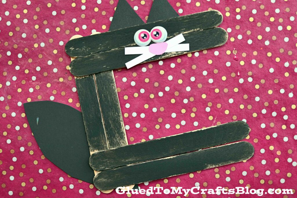 """Popsicle Stick """"C"""" is for Cat - Kid Craft Idea"""