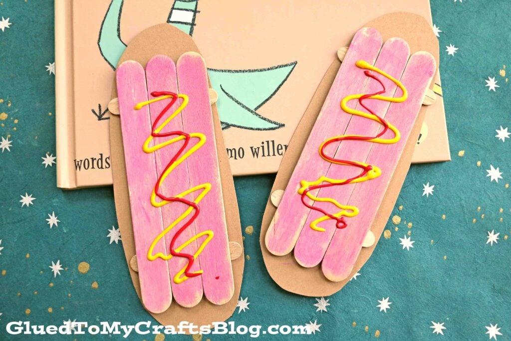 Popsicle Stick Hot Dog - Kid Craft Idea