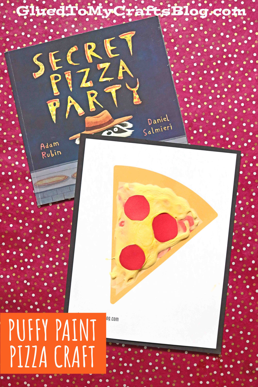 Puffy Paint Pizza Craft Idea For Kids - Free Printable Template Included!