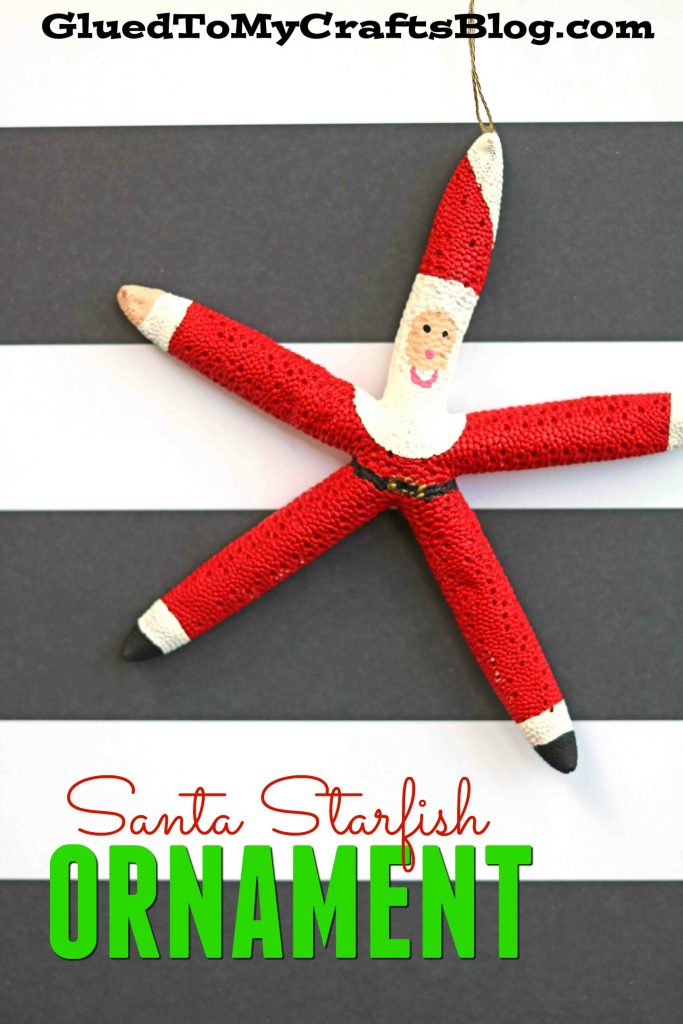 DIY Santa Starfish Ornament Craft For Christmas