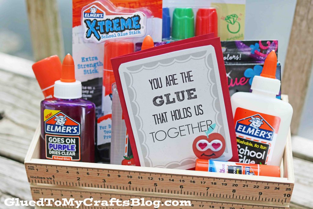 The Glue That Holds Us Together - Gift Tag Printable For Teacher Gifts