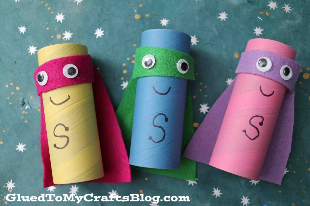 Cardboard Craft Tube Superheroes - Kid Craft Tutorial