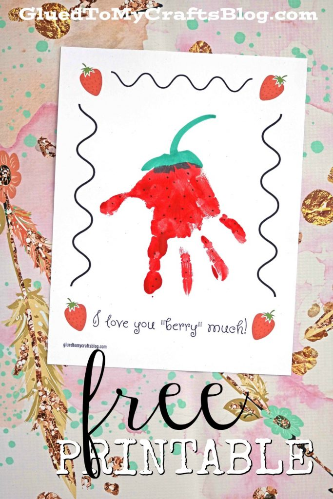 Love You Berry Much - Free Printable