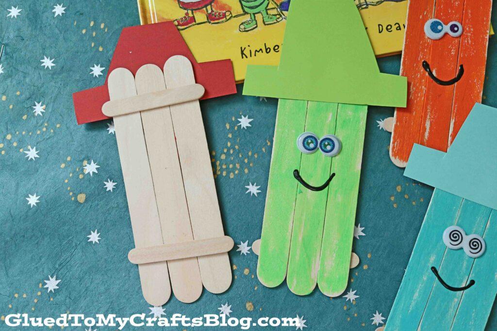 Popsicle Stick Crayon Friends - Kid Craft