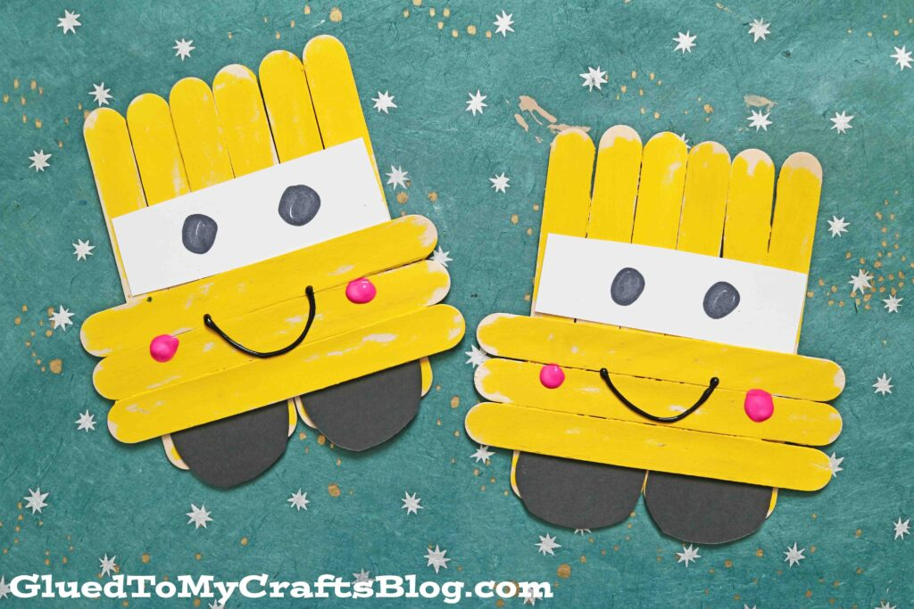 Craft Stick School Bus Friends - Kid Craft