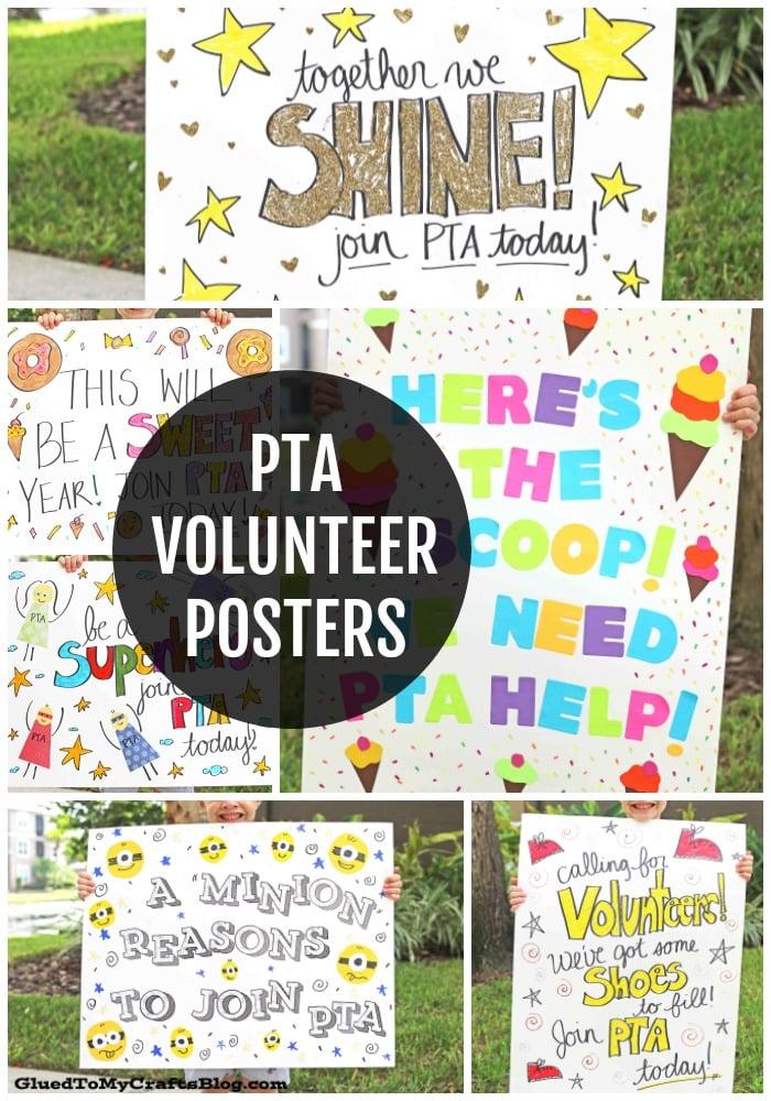 PTA Volunteer Posters