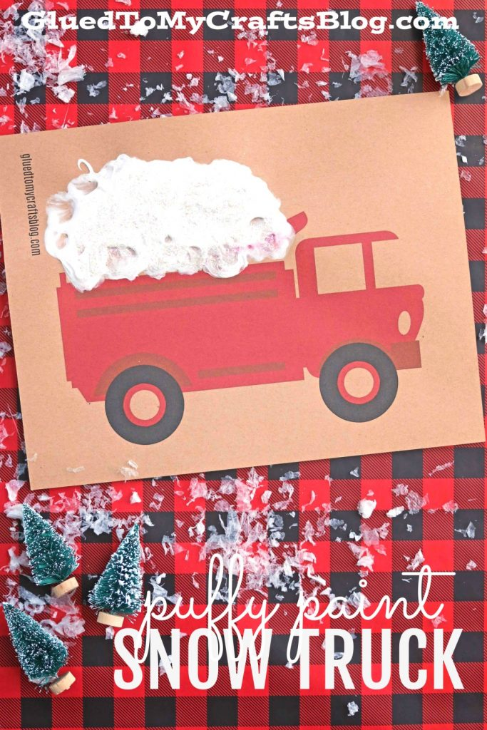 Puffy Paint Snow Truck - w/Free Printable