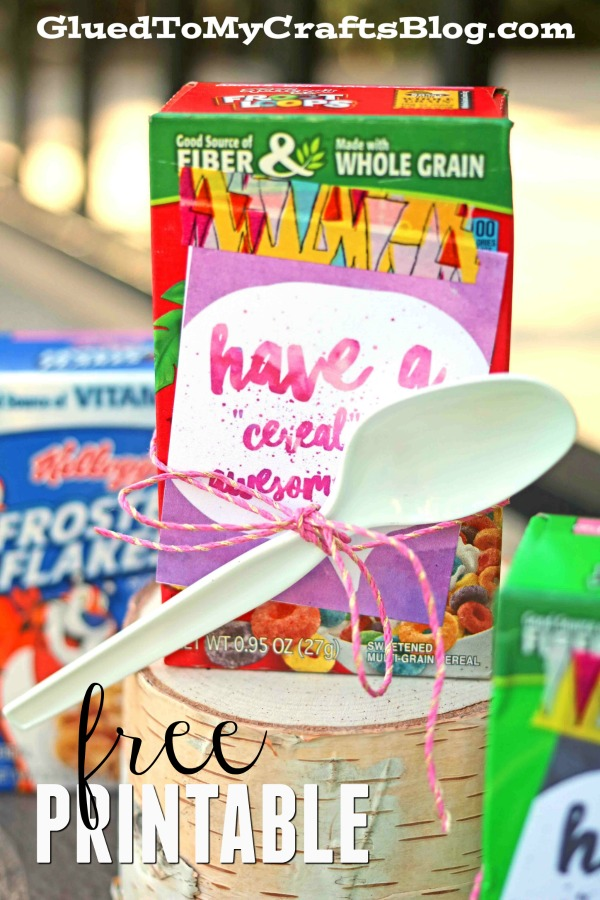 """Cereal-sly"" Awesome Day - Free Gift Tag Printable"