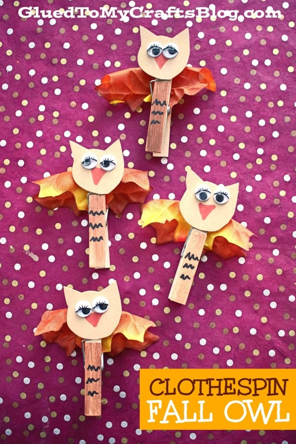 Super SIMPLE Clothespin Fall Owl Puppets - Kid Craft