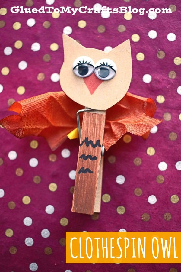 Clothespin Fall Owl - Kid Craft
