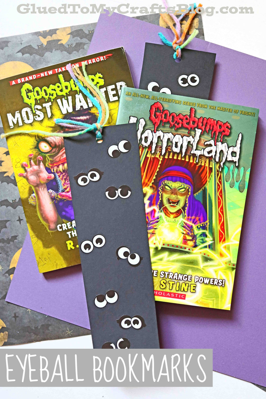 DIY Paper & Sticker Eyeball Halloween Bookmarks - Kid Craft