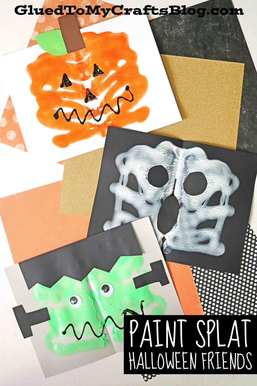 Innovative & Original Paper & Paint Splat Halloween Friends
