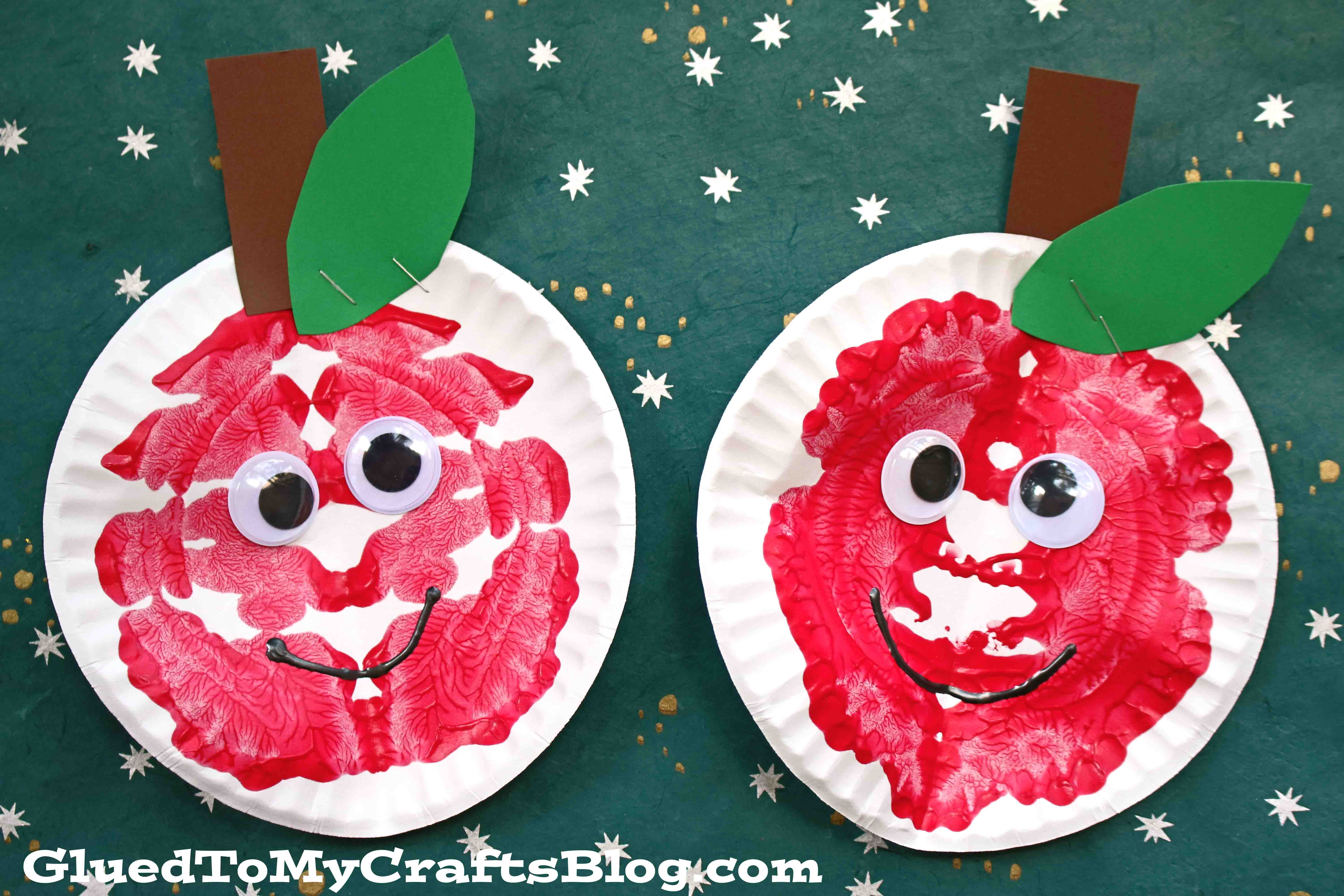 Paper Plate & Paint Splat Apples - Back To School Kid Craft