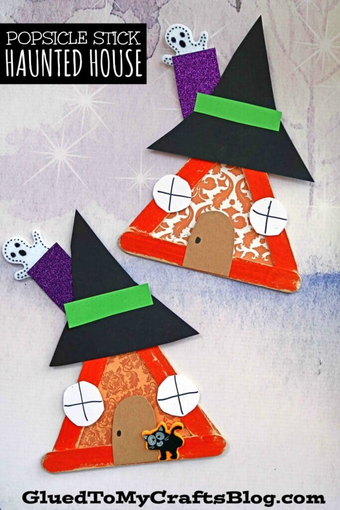 Popsicle Stick Haunted House - Kid Craft