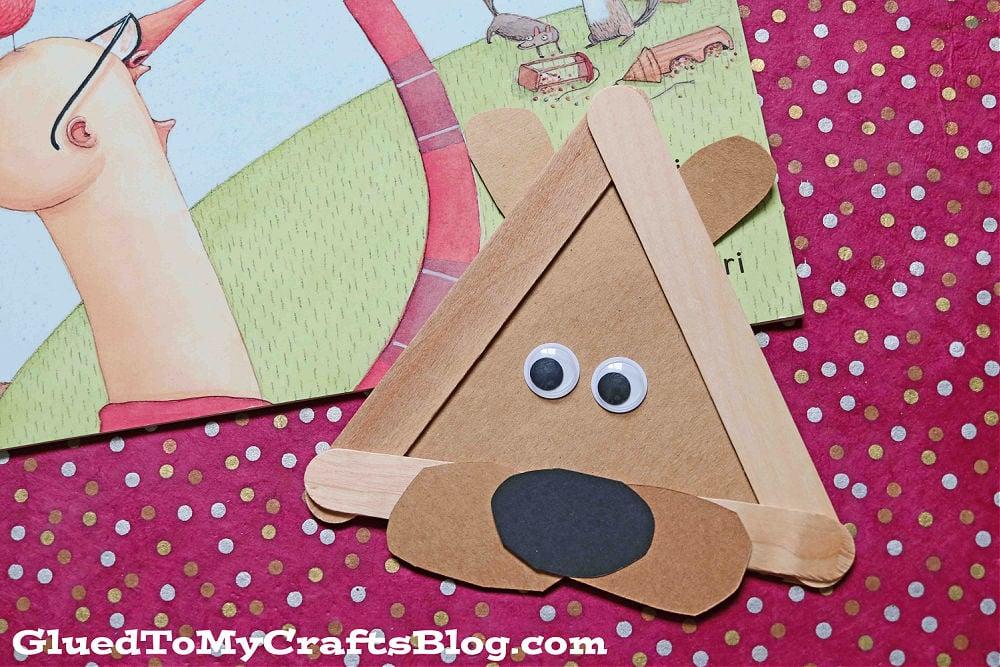 Popsicle Stick Squirrel Head - Kid Craft Idea