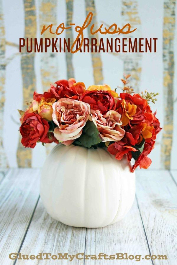 No-Fuss Pumpkin Floral Arrangement