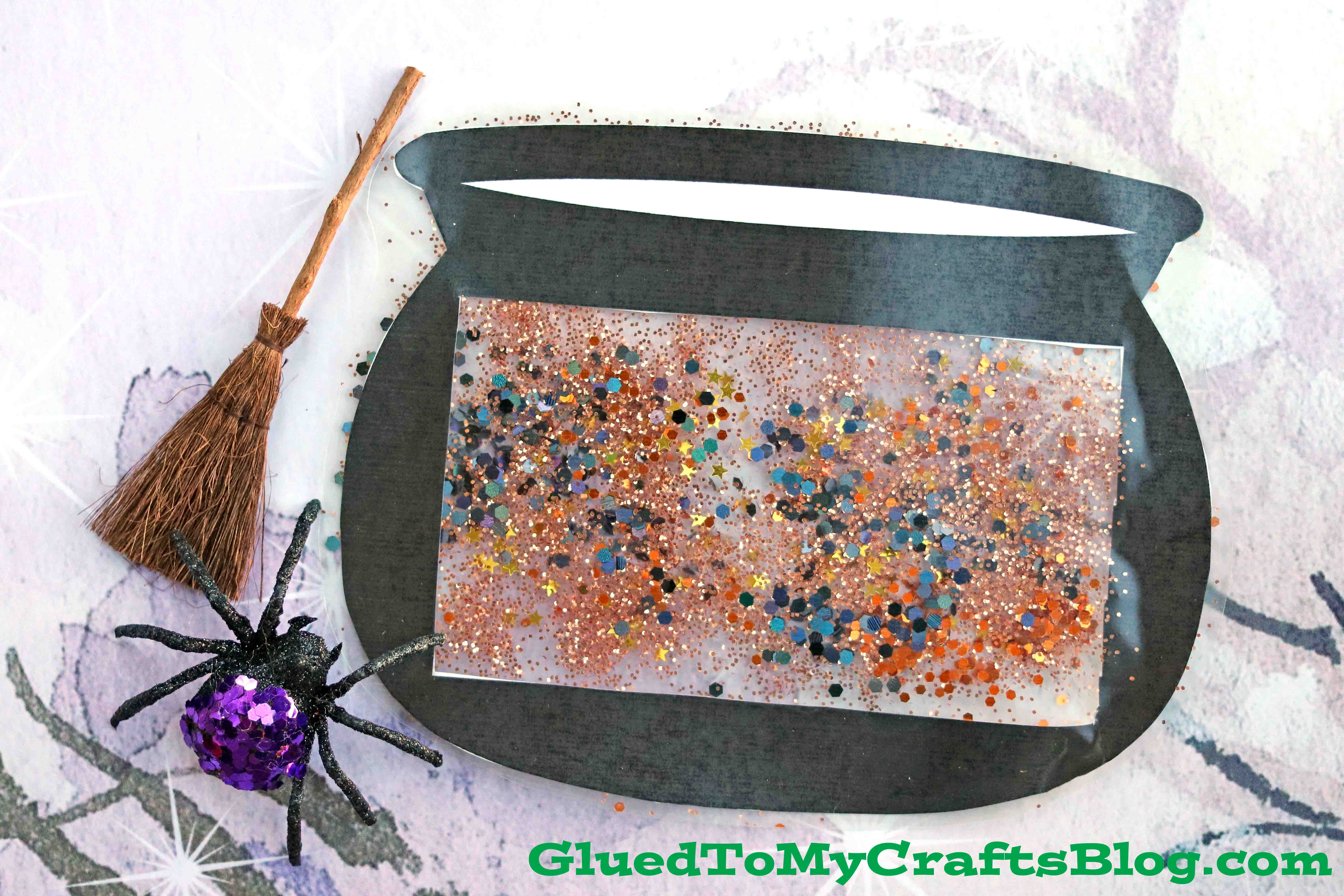 Stained Glass Witch Cauldron Kid Craft For Halloween