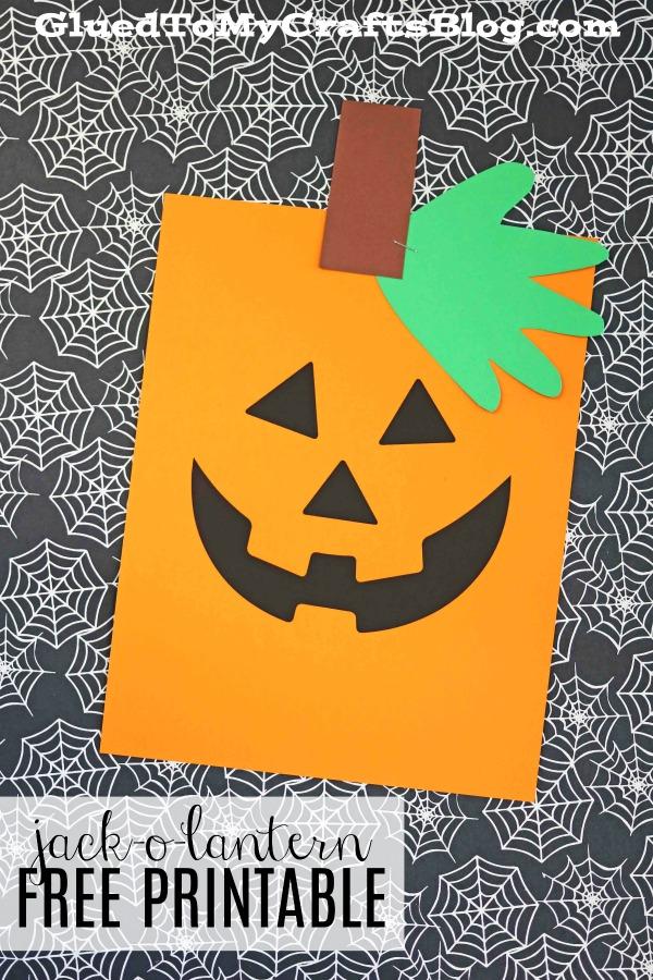 Simple Handprint Jack-O-Lantern Printable