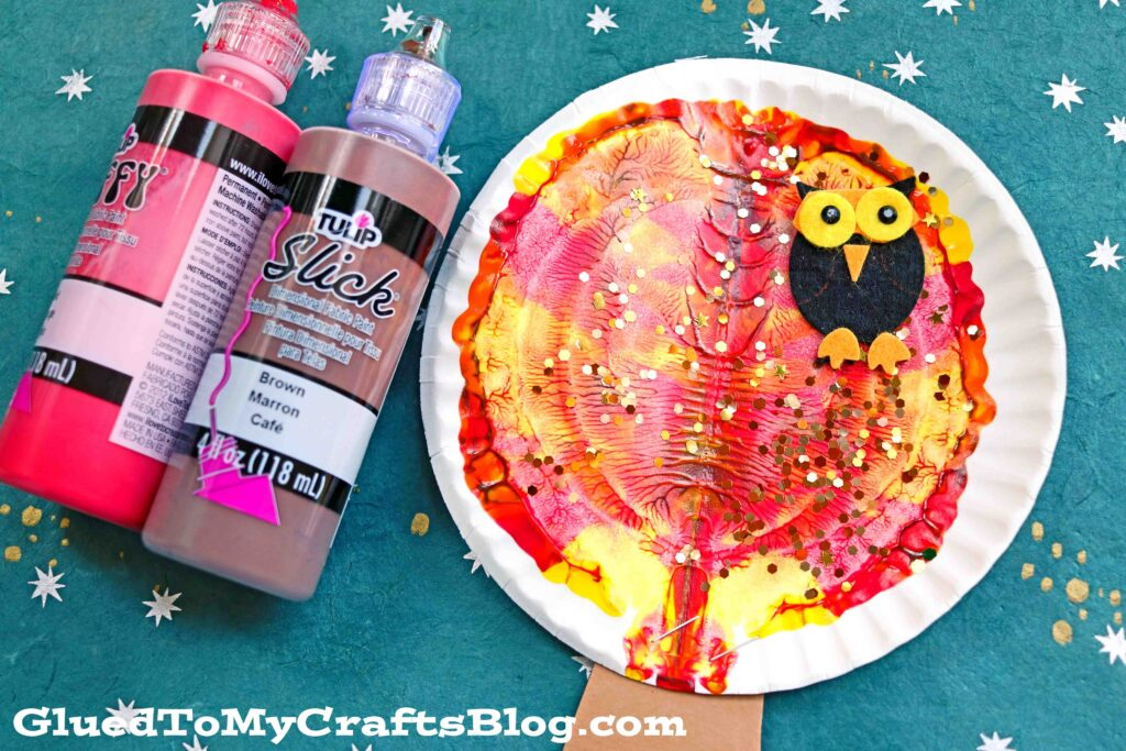 Colorful Paper Plate & Paint Splat Tree - Kid Craft