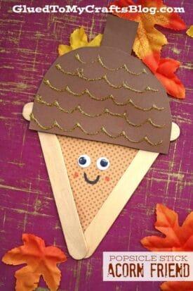 Popsicle Stick Acorns - Kid Craft