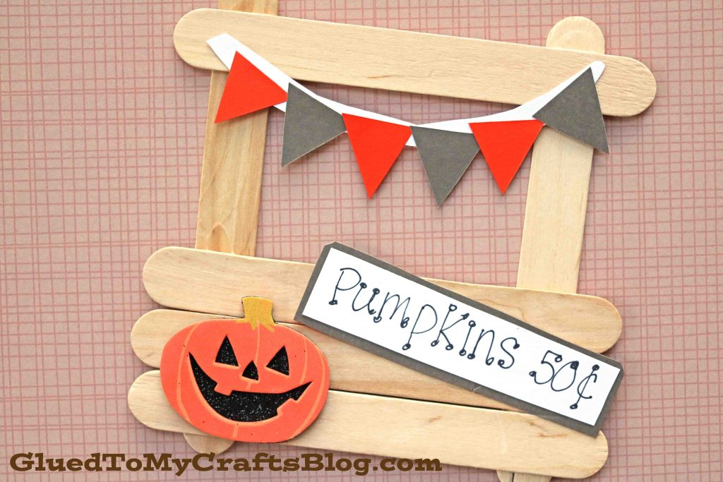 Popsicle Stick Pumpkin Patch Stand - Kid Craft
