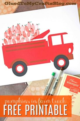 Thumbprint Pumpkins In Farm Truck - Kid Craft