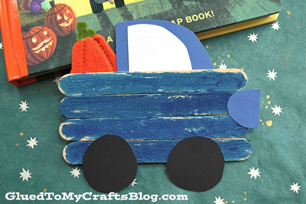 Little Blue Truck's Halloween - Popsicle Stick Kid Craft