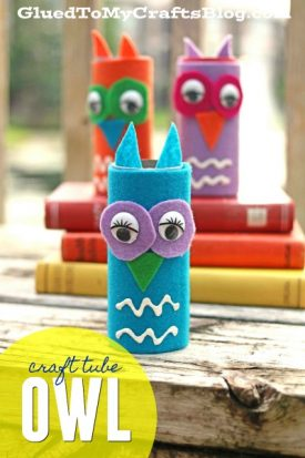 Craft Tube Felt Owls