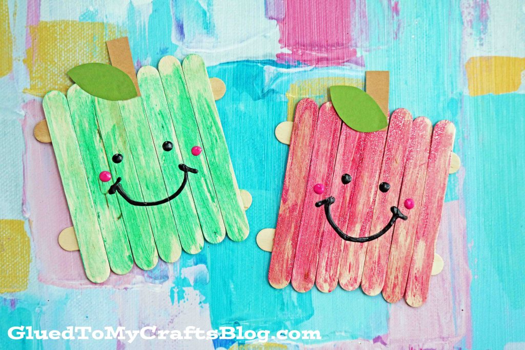 Popsicle Stick Apple Friends - Kid Craft