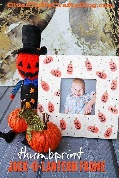 Thumbprint Jack-O-Lantern Pumpkin Frame
