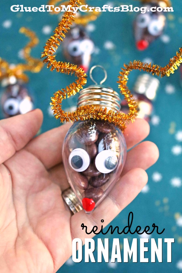 Super Simple Candy Filled Ornaments - Santa & Rudolph