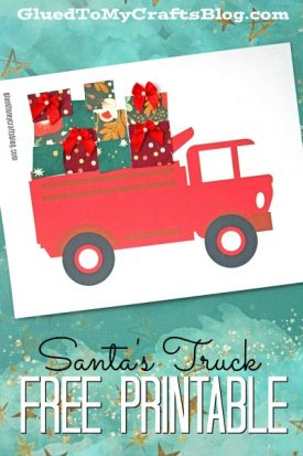 Paper Scrap Presents In Santa's Truck - Kid Craft