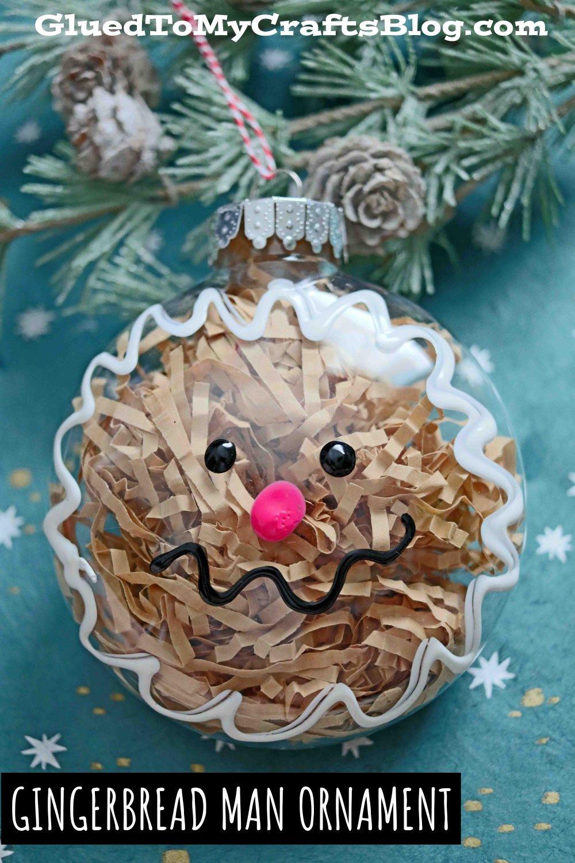 Plastic Ornament Gingerbread Man