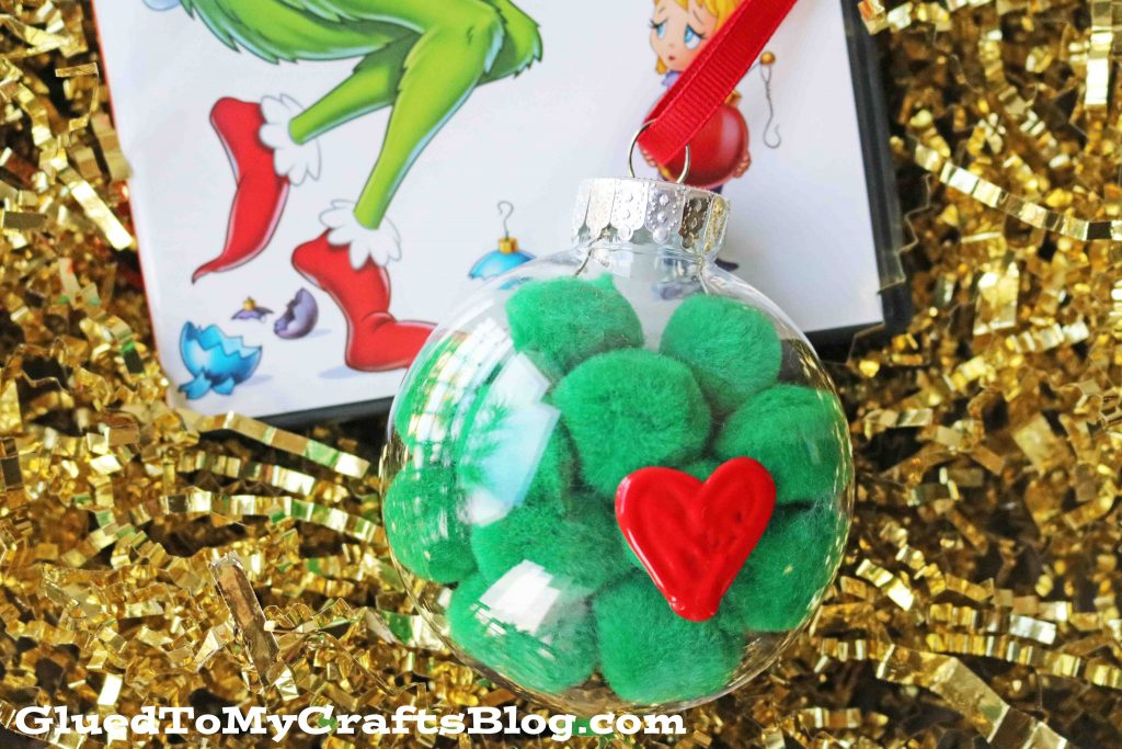 Grinch Inspired Pom Pom Ornament