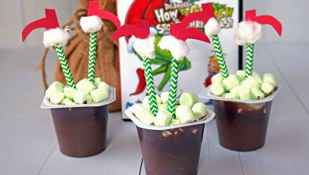 Grinch Stuck In The Chimney - Pudding Snack
