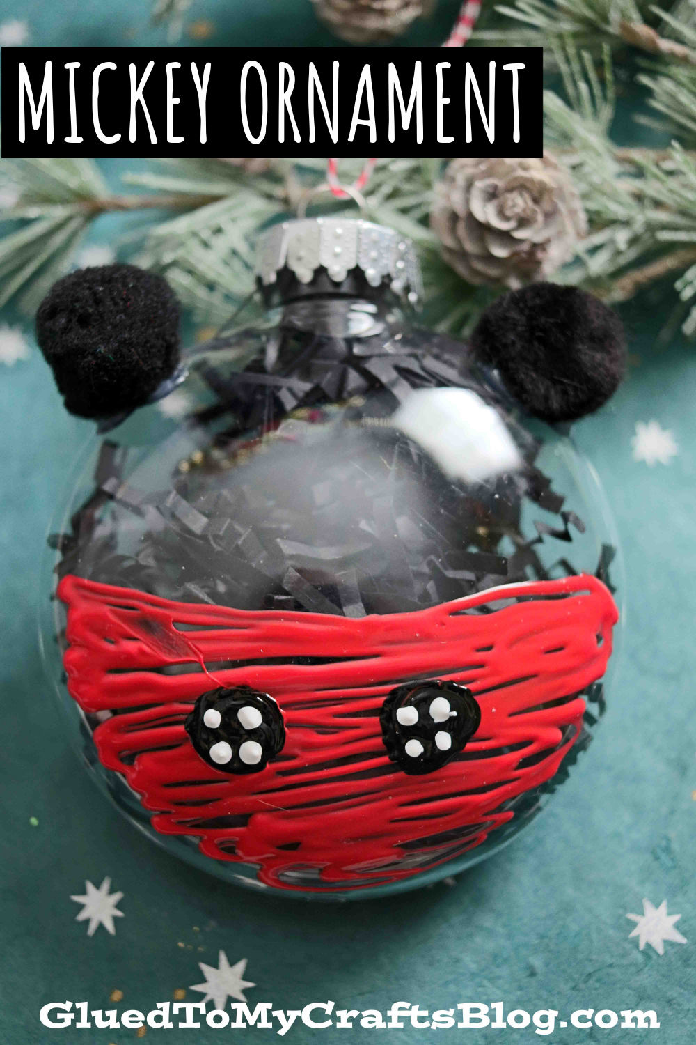 Plastic Ornament Mickey Mouse